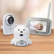VTech Baby Monitor VM341-216 With Two Night Vision Cameras And Expandable Digital Video High resolution 4.3  color LCD with Pager button/talk back feature With range of 1,000'