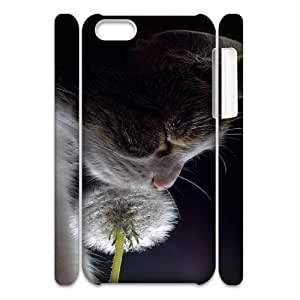 CAT YT8057468 3D Art Print Design Phone Back Case Customized Hard Shell Protection Iphone 5C