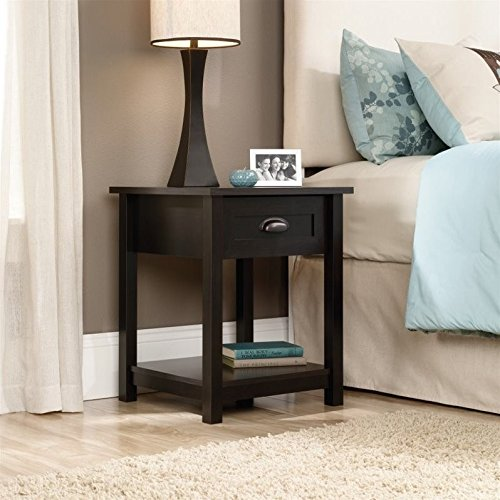 Sauder County Line Night Stand with Estate Black Finish County Line