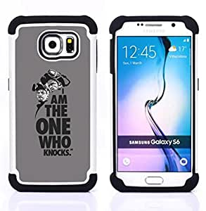 - I Am The One Who Knocks/ H??brido 3in1 Deluxe Impreso duro Soft Alto Impacto caja de la armadura Defender - SHIMIN CAO - For Samsung Galaxy S6 G9200