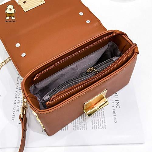 marrone Singola Oblique Per Brown Lmshm Paillettes Donna Borsa Messenger A Con Catena Bambina Tracolla 0AxB7SwA