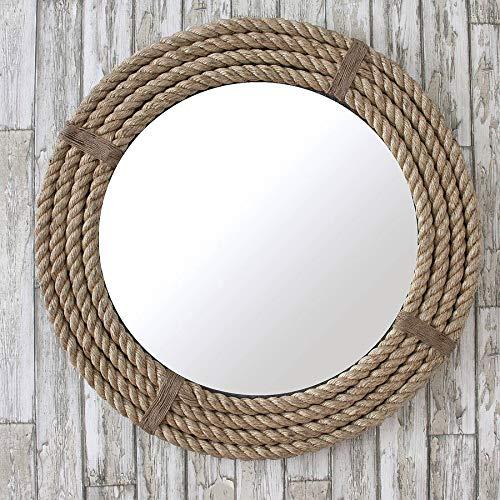 Nagina International Twisted Rope Round Decorative Mirrors - Rope Accentuated Mirror | -