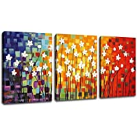 ARTEWOODS Abstract Flowers Painting Canvas Wall Art Decor