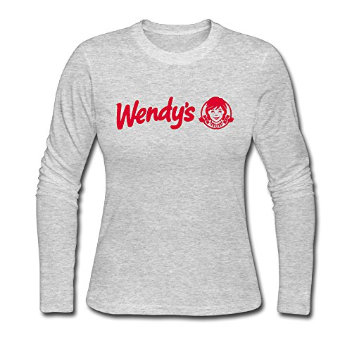 CUPP Wendys RED Logo Custom Women's Long Sleeve T-Shirt Gray -