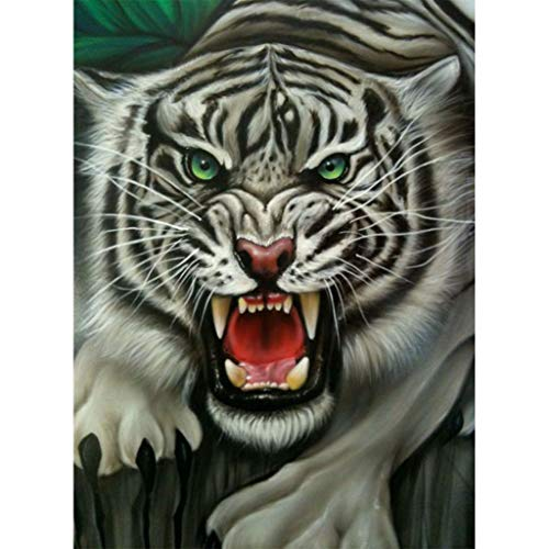 Allywit Best Gift!!DIY 5D Diamond Painting Kit for Adults Full Round Drill Kits Lion Tiger Canvas Painting Embroidery Arts Craft