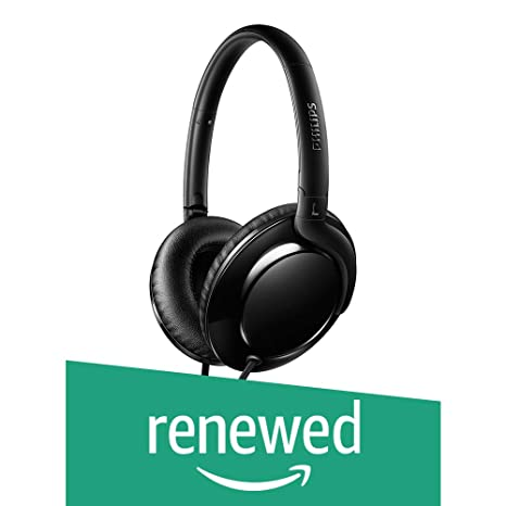 (Renewed) Philips SHL4600BK/00 Headphones (Black) Audio Headphones at amazon
