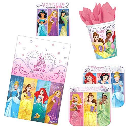 - Disney Princess Dream Big Birthday Party Supplies for 16 Guests with Childrens Party Planning eBook (Basic ParteePak)