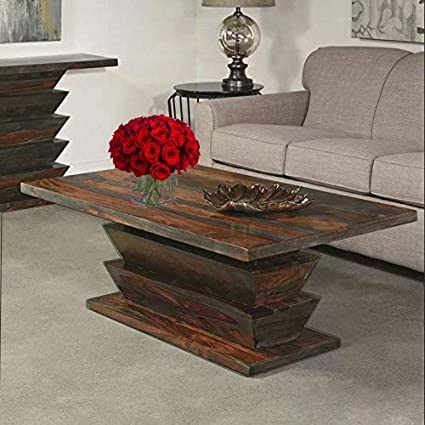 Furniture World Sheesham Wood Center Table For Living Room Coffee