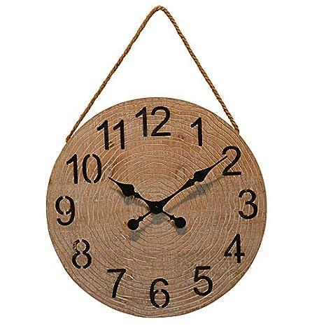 HDOUBR Reloj de Pared nórdico Reloj Americano de Arte en casa Relojes de jardín Sala de Estar Creativa Personalidad del Reloj Reloj Decorativo Grandes ...