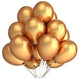 Lumeey Gold Latex Balloons 100pcs/lot 12 inch 2.8g Premium Thicken Balloon ...