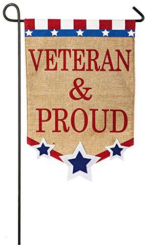 (Veteran and Proud Garden Flag)