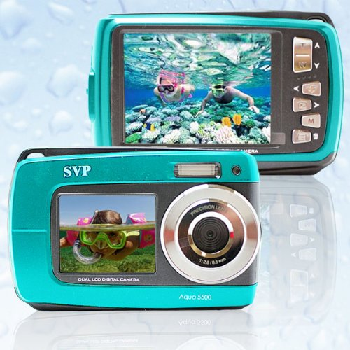 SVP Aqua 5500 (Blue) 18 MP Dual Screen Waterproof Digital Camera by SVP (Image #4)