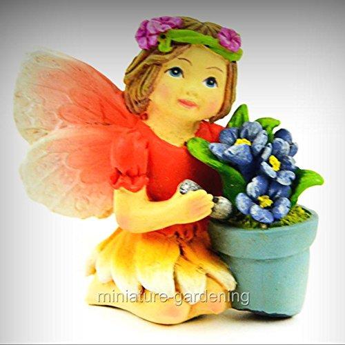 Garnet the Fairy for Miniature Garden, Fairy Garden - My Mini Garden Dollhouse Accessories for Outdoor or House Decor