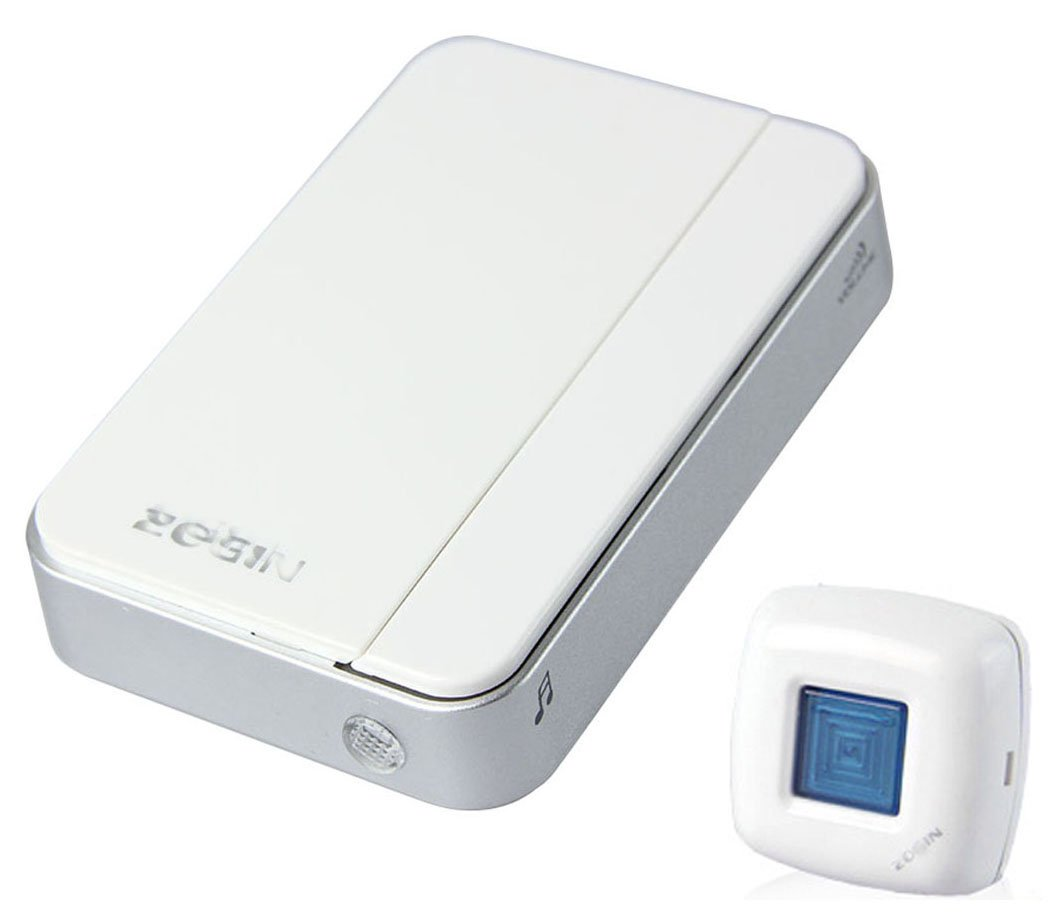 A06 Wireless Door Chime Guest Bell with Waterproof Ip44 Tansmitter White