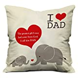 Indibni Perfect Love You Dad Cushion Cover 12X12 With Filler - White Special Papa Gift For Birthday Anniversary Father'S Day