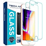 Tech Armor Apple iPhone 6 / 6S, iPhone 7, iPhone 8 (4.7') Ballistic Glass Screen Protector - 99.99% Clarity and 3D Touch Accuracy [2-Pack]