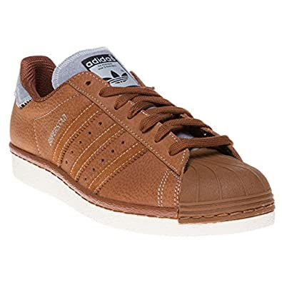 57939b1bc119 Adidas Superstar 80 s Varsity Jacket Homme Baskets Mode Fauve ...
