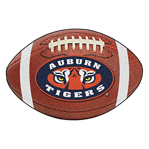 FANMATS NCAA Auburn University Tigers Nylon Face Football Rug