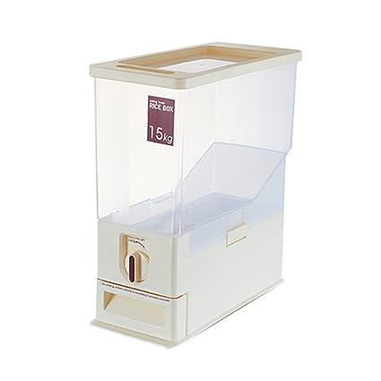 Dispensadores de cereales Barril de almacenamiento Medida de barril de arroz home rice box humedad medidor