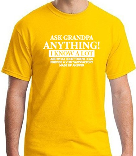 Ask grandpa anything funny premium men's short sleeve tshirt by Allure & Grace (Large, Daisy (Great Gatsby Daisy Dress)