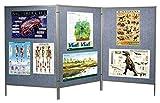 Mobile Floor Display Panels - Set of 3 (Blue Vinyl)