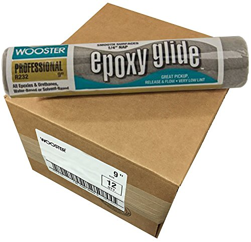 Wooster Brush R232-9 Epoxy Glide Roller Cover, 1/4-Inch Nap, Pack of 12