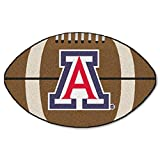 NCAA University of Arizona Wildcats Football Shaped Mat Area Rug