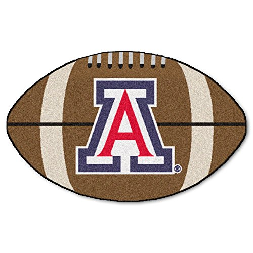 (NCAA University of Arizona Wildcats Football Shaped Mat Area Rug)