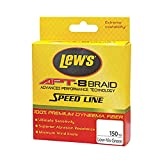 Lews Fishing APT-8 Braid Speed Line, Low-Vis Green, 30 lb/150 yd For Sale