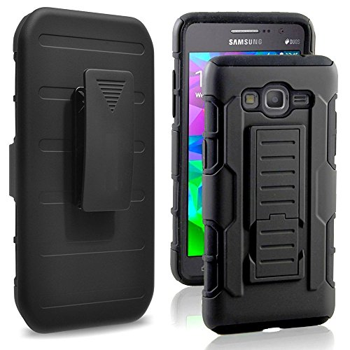 Galaxy Grand Prime Case, Harryshell(TM) Full Protective Armor Rugged Dual Layer Heavy Duty Hybrid Kickstand Combo Robot Cover Case with Belt Clip for Samsung Galaxy Grand Prime G530/G530H