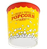 32 oz. Popcorn Bucket Cup, Yellow Red Retro Style (50 Buckets) by - EcoWare