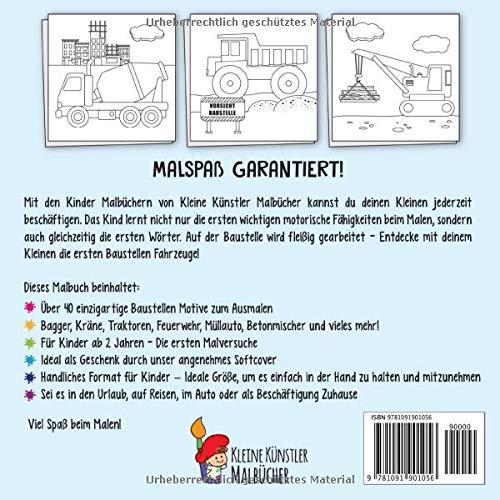 Malbuch Kinder Ab 2 Das Große Ausmalbuch Der Baustellen