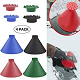 Cone-Shaped Round Windshield Ice Scraper Magic Scraper Car Windshield Snow Scrapers, Magic Funnel Snow Removal Shovels Tool (4 Colors)