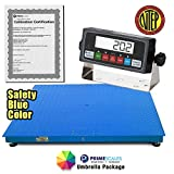 "PrimeScales Heavy Duty NETP Legal For Trade 60""x60"" Industrial Floor Scale & Indicator –5000x1lb Accurate Warehouse Scale, Built-In Smart Data Function & Calibration Certification"