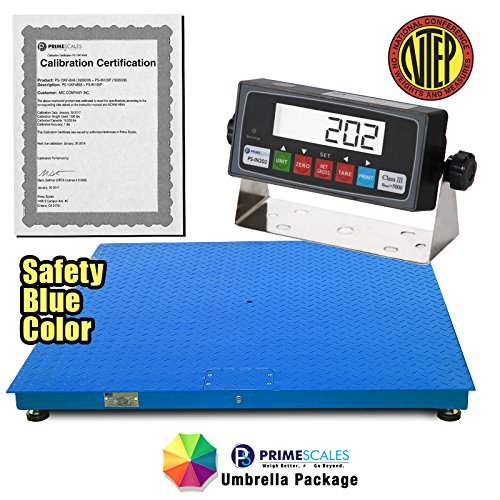 "MEILESTONE Heavy Duty NTEP 48""x60"" Industrial Floor Scale 5000x1lb CS2010-4x5 + Indicator – Industrial & Recycle Center Scales, Built-In Smart Data Function & Calibration Certification from MEILESTONE"