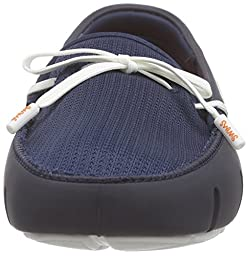SWIMS Men\'s Lace Loafer Navy/White 8.5 M