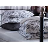 White and Grey King Size Duvet Cover and 2 Pillow Cases