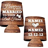 Personalized Wedding Can Cooler- Happiness Is Being Married To Your Best Friend (100)