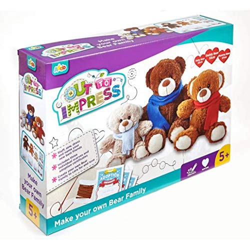 Addo – Out to Impress – Nähe deinen eigenen Teddybären-Familie – Kinder-Bastelset