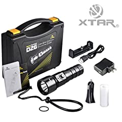 Introductions: ---XTAR D26 Whale updated version is released in Feb.2015, Using the newest Cree XM-L2 U3 LED, with high efficiency conversion and excellent output 1100 lumens. ---D26 is a professional lightweight diving flashlight designed fo...