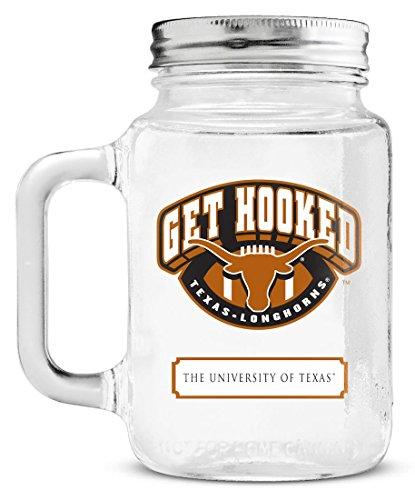 NCAA Texas Longhorns Mason Jar, - Outlet Mall Texas