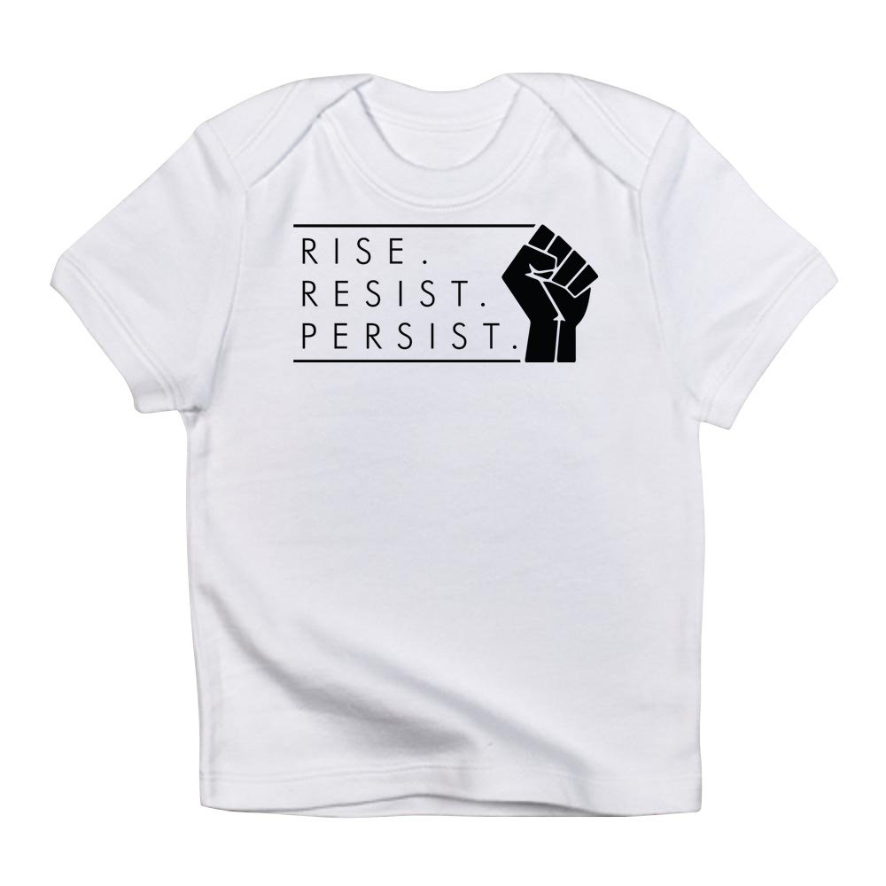 0b92107290 Amazon.com: CafePress - Rise. Resist. Persist. - Cute Infant T-Shirt, 100%  Cotton Baby Shirt: Clothing
