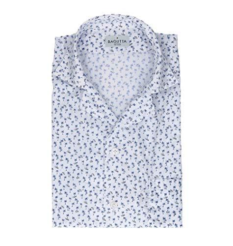 Bagutta Men's Mauiem09267652 White Cotton Shirt