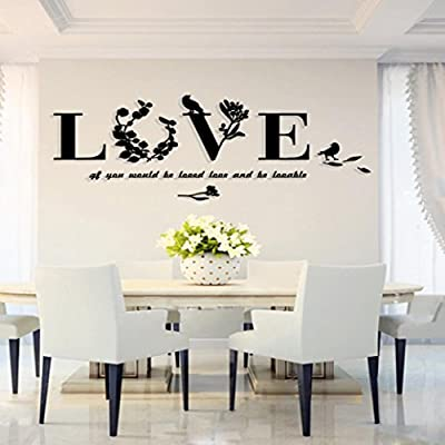 Clearance!! ZOMUSA Removable 3D Leaf LOVE Wall Sticker Art Vinyl Decals Mural Decor