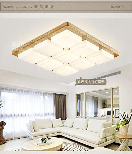 SL Luces de techo de estilo europeo 9 registro madera cuadrada sólida living comedor ambiente nórdico dormitorio lámpara de lámpara de techo led de China nueva IKEA 740 * 740mm,Luces de techo(220V-240V):