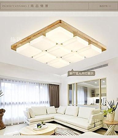 SL Luces de techo de estilo europeo 9 registro madera ...