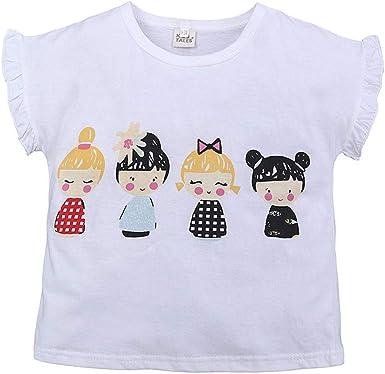 Innerternet-Camiseta de niño, (12meses-8 años de Edad) Divertido Estampado de Dibujos Animados para niños de Moda de Verano con Cuello Redondo Camiseta de Manga Corta a Rayas: Amazon.es: Ropa y accesorios