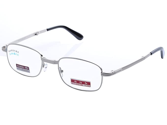 85b6f8efa1a4 De Ding Men Women Metal Frame High Clear Crystal Lens Foldable Reading  Glasses DD1384 (Silver