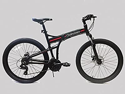 "ZiZZO by EuroMini Swiss Alps 26"" Foldable MTB - Space Gray"