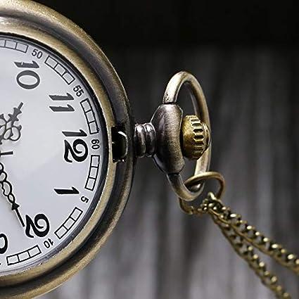 Amazon.com: CHITOP Bronze Pocket Watch Men Women Pendant Clock with Chain Overlapping Triangles Quartz Necklace Clock Gift reloj de bolsillo: Cell Phones & ...